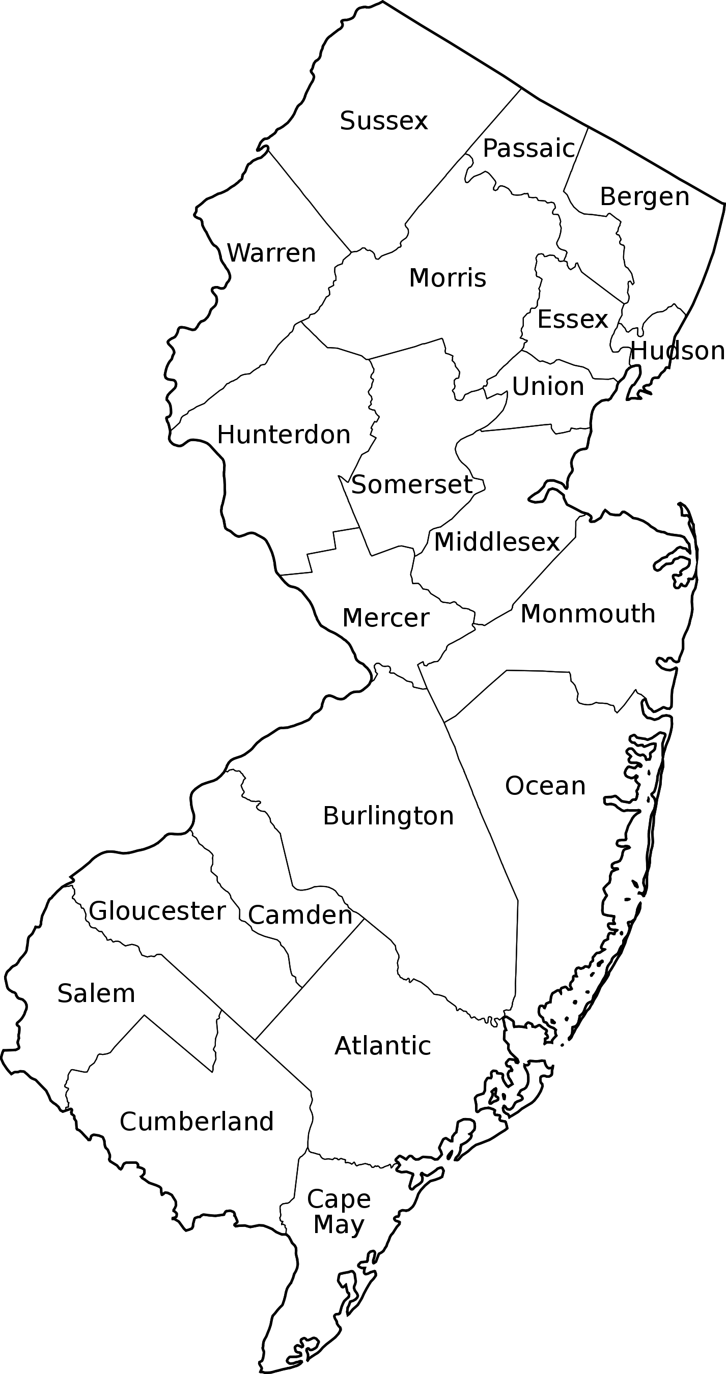 File:New Jersey Counties Labeled.svg - PNG New Jersey