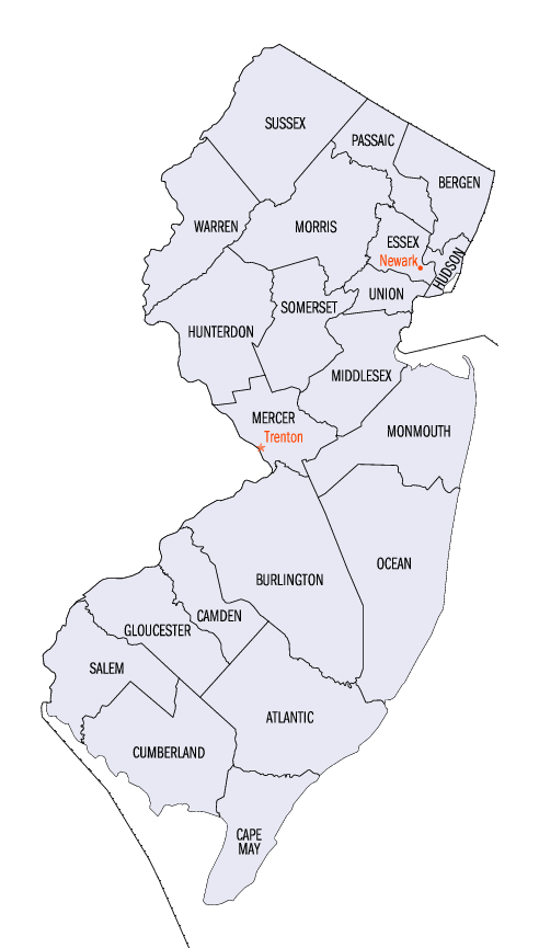 File:New Jersey counties map.png - PNG New Jersey