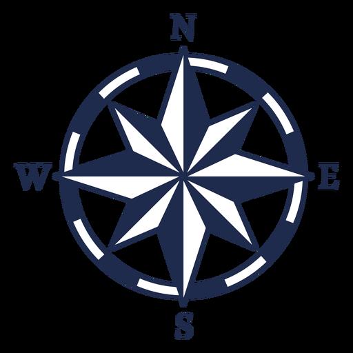 Vintage nautical north arrow