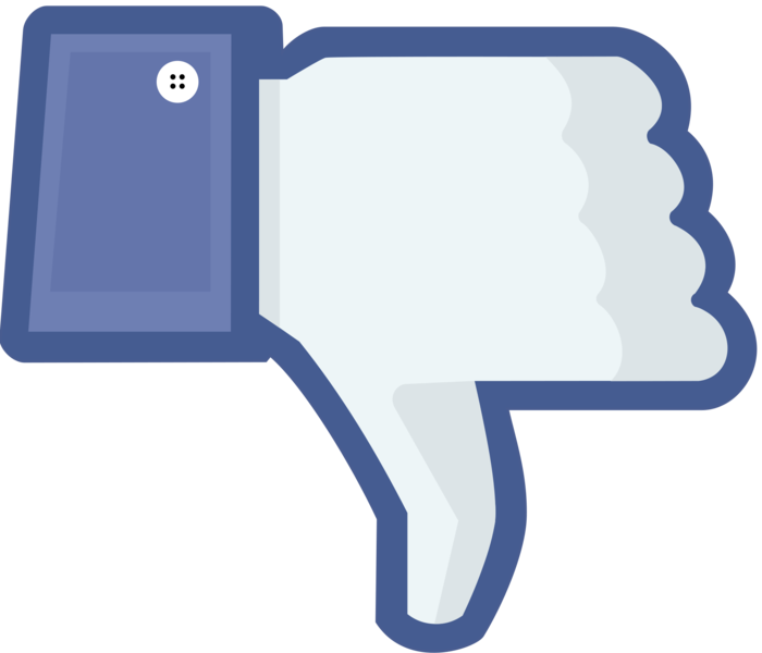 File:Not facebook dislike thumbs down.png - PNG Not