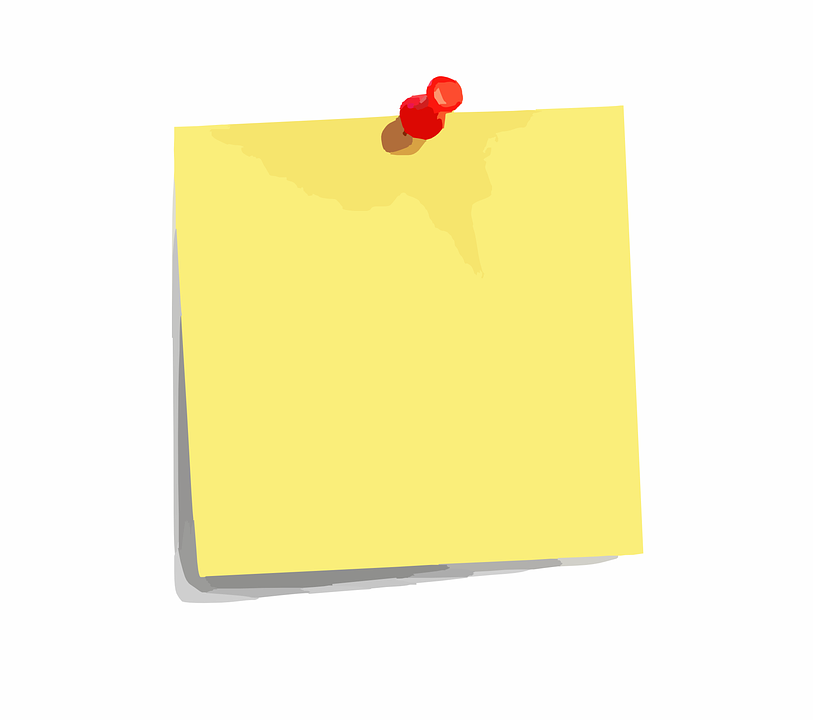Free vector graphic: Sticky Note, Paper, Pin, Notes - Free Image on Pixabay  - 294627 - PNG Not