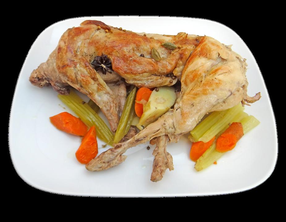 Królik, Całość, Gotowane, Obiad, Żywności, Posiłek - PNG Obiad