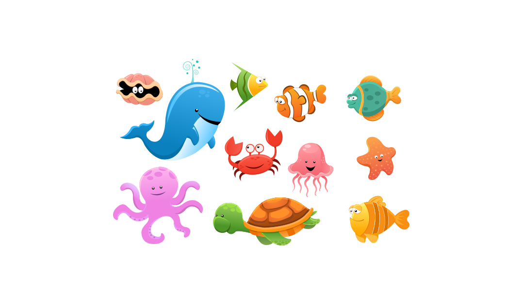 Sea Animals u2013 Free Vector and PNG - PNG Ocean Animals