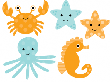 Sea Clipart - PNG Ocean Animals