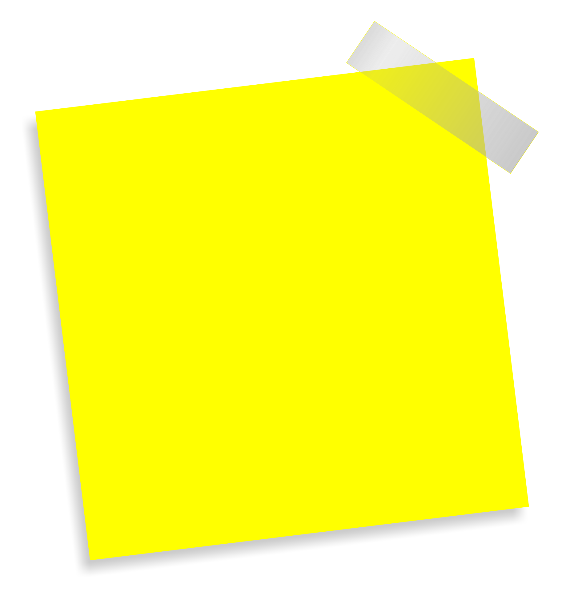 Paste Note PNG Transparent Image - PNG Of A Note