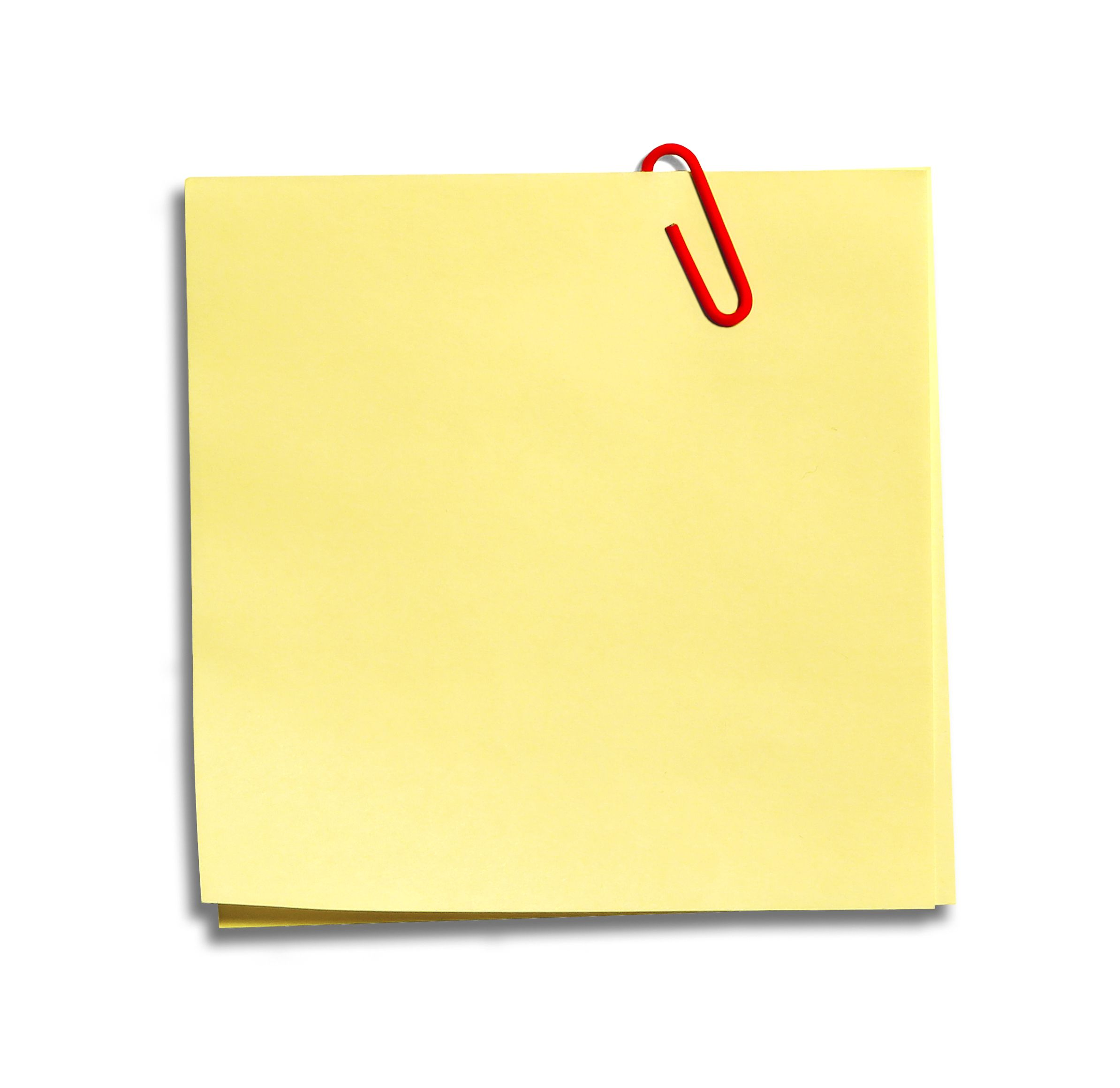 Post It Note Png Clipart Best - PNG Of A Note