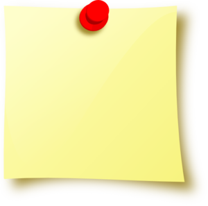 Sticky note PNG - PNG Of A Note