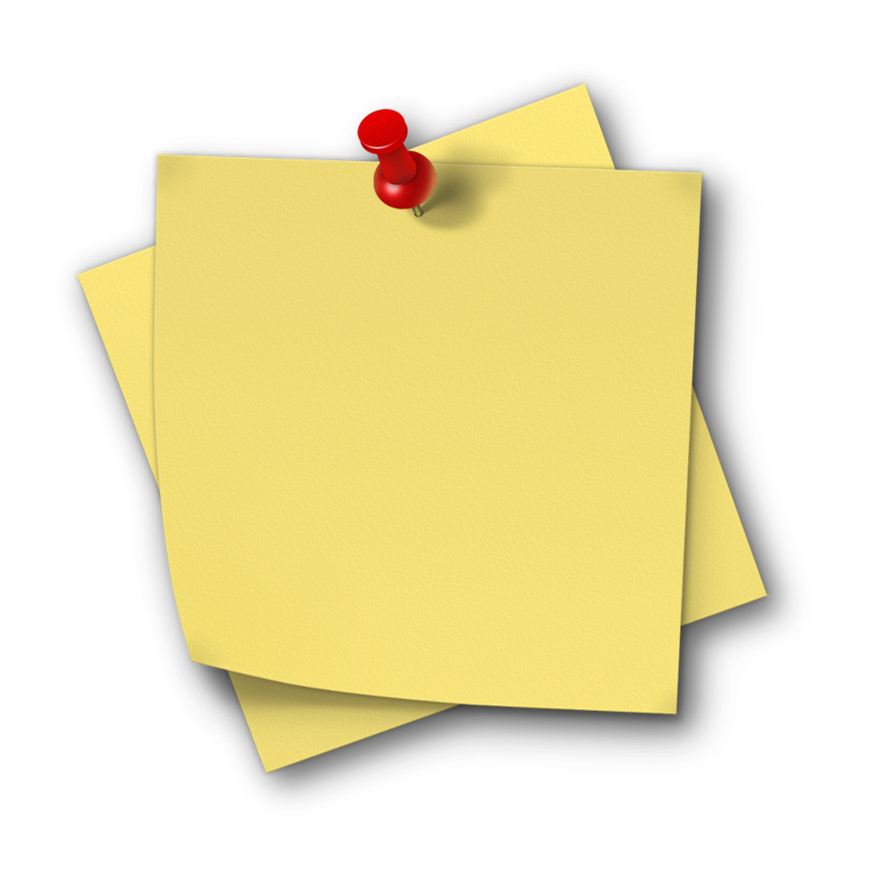 Sticky note PNG - Note HD PNG - PNG Of A Note