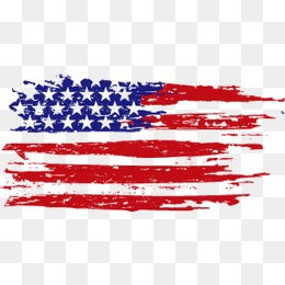 american flag, Brush, Map, Flag PNG and Vector - PNG Of The American Flag