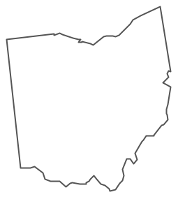 Geo Map Usa Ohio Contour - PNG Ohio