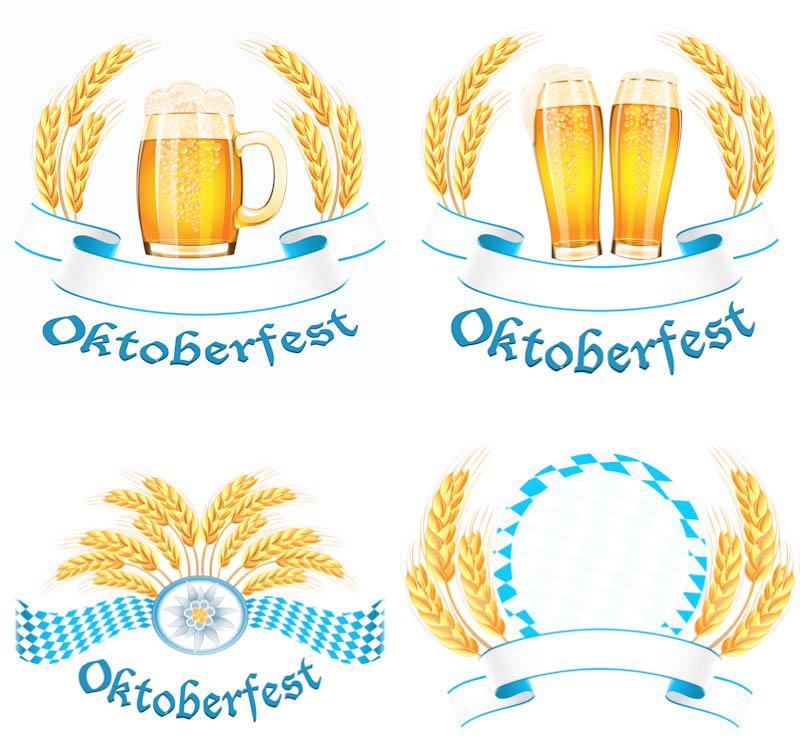 Oktoberfest labels vector - PNG Oktoberfest Border