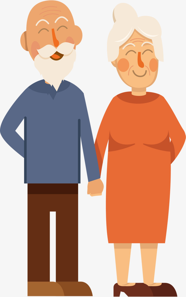 Hands in the old couple, Vector Png, Old Married Couple, Love Each Other  Free PNG and Vector - PNG Old Couple