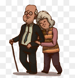 Happy old couple, Cartoon, Happy, Elderly Couple PNG and Vector - PNG Old Couple