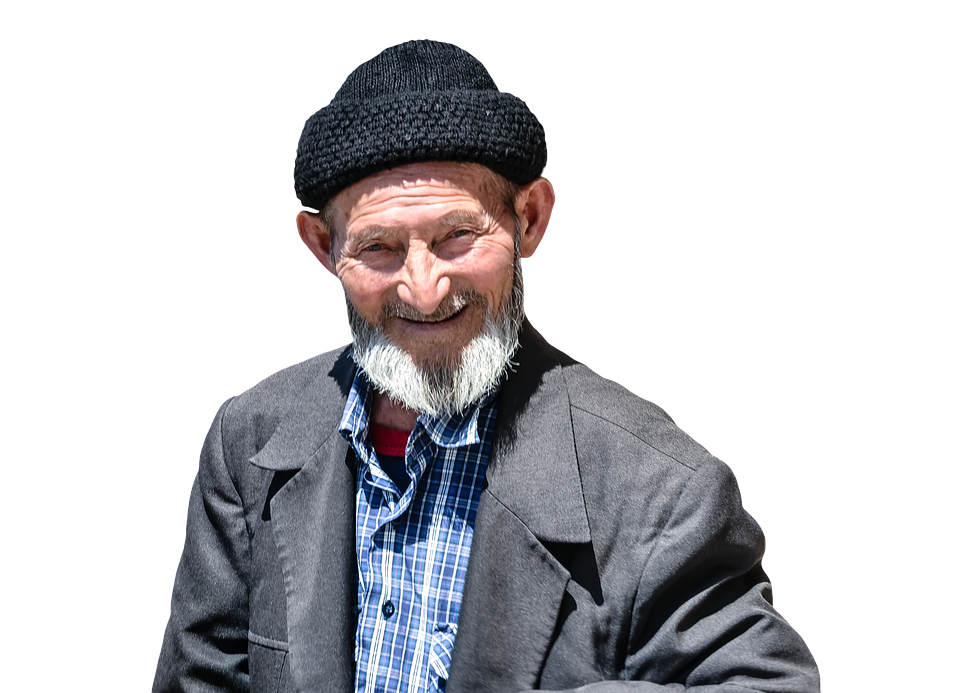 Grandfather, Masked, Psd, Shorn, Old, Old Man, Terry - PNG Old Man