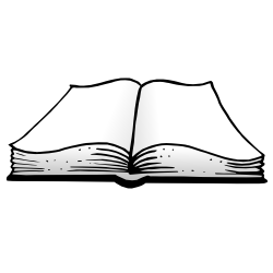 Black Open Book Clip Art - PNG Open Book Black And White