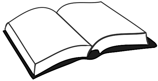 Book Clip Art #1793. Open book clipart black and white - PNG Open Book Black And White