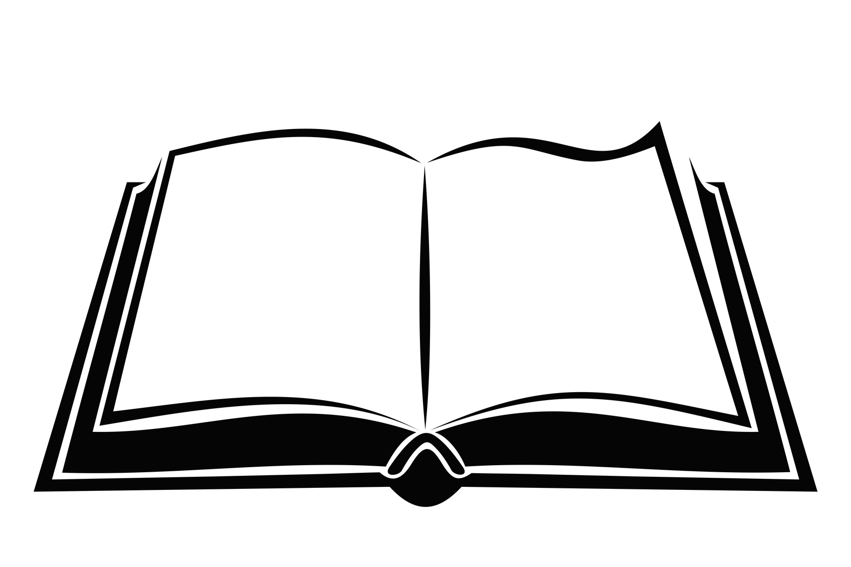 PNG Open Book Black And White - 77632
