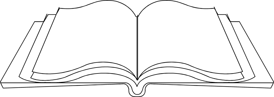 PNG Open Book Black And White - 77626