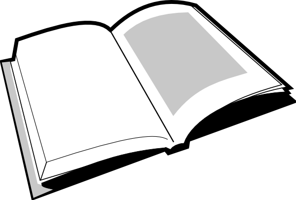 Open book black and white clipart kid - PNG Open Book Black And White