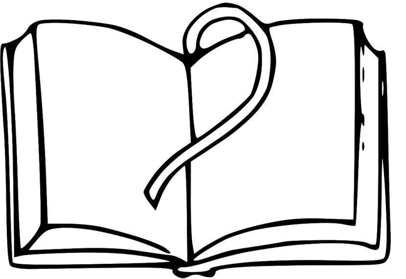 PNG Open Book Black And White - 77633
