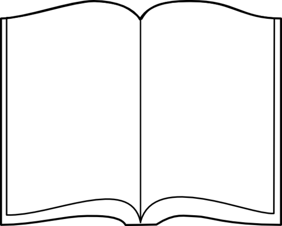 PNG Open Book Black And White - 77627