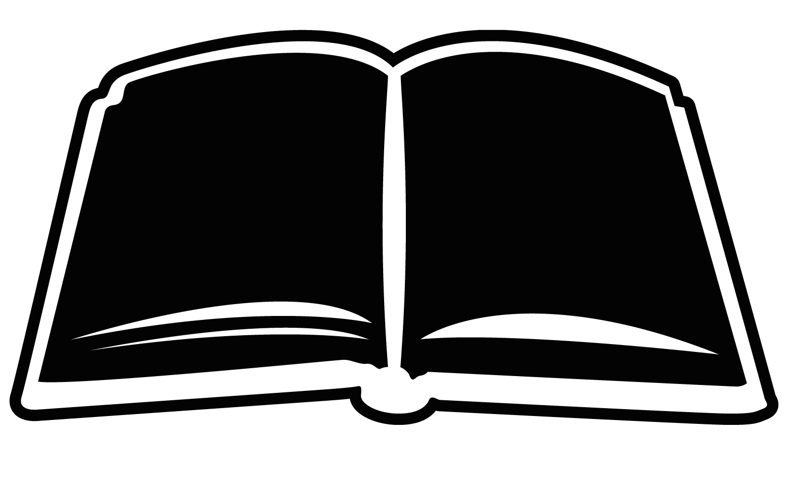 Open Book Clipart - PNG Open Book Black And White