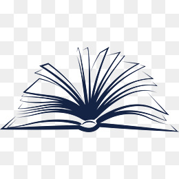 Open book, Open, Notebook, The Books PNG and Vector - PNG Open Book Black And White