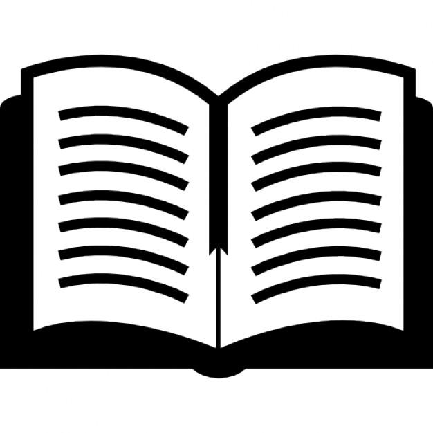 PNG Open Book Black And White - 77635