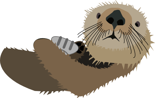 Otter With Shell SVG Clip arts 600 x 379 px - PNG Otter