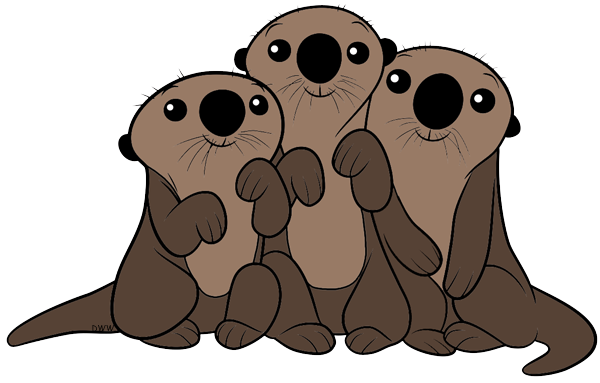 Sea Otters (Finding Dory) Clipart.png - PNG Otter