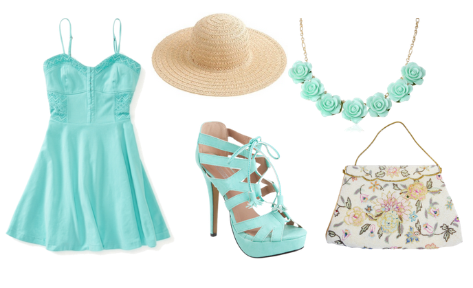 Mint Green Spring Fever Outfit - PNG Outfit