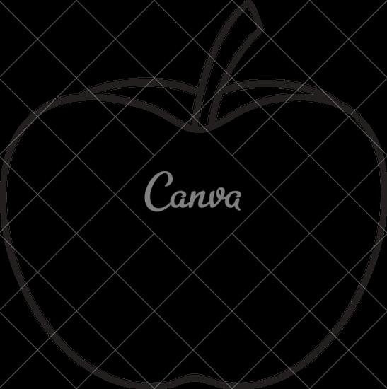 PNG Outline Apple - 72887