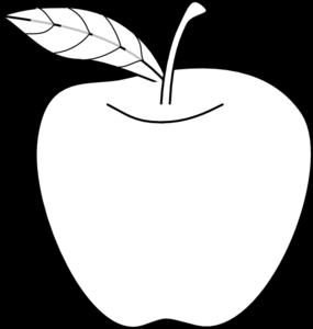 Apple Outline Clip Art - PNG Outline Apple