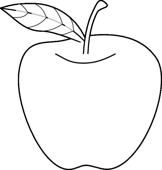 Apple Outline SVG Clip arts 570 x 599 px - PNG Outline Apple