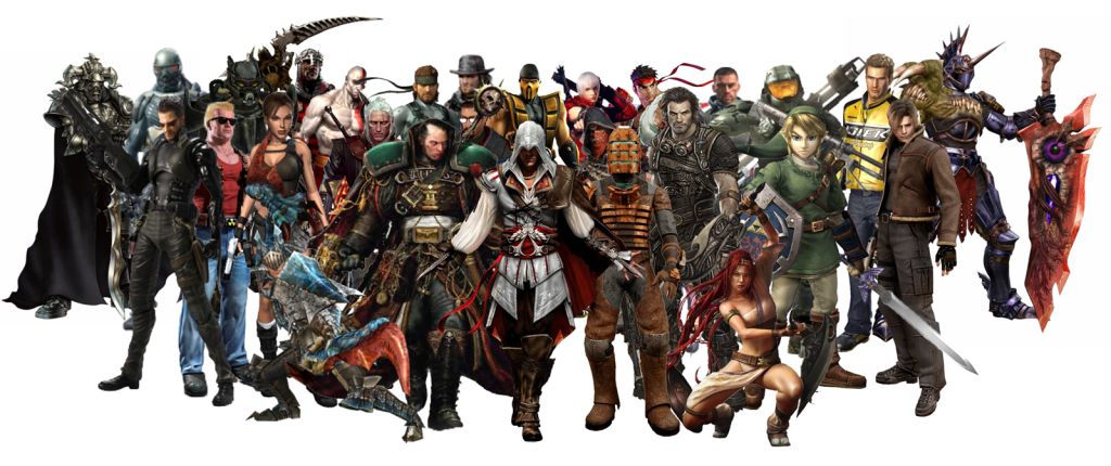 video-game-characters - PNG Oyun