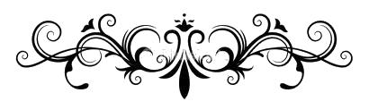 Ornamental-fancy-black-page-divider.png - PNG Page Divider