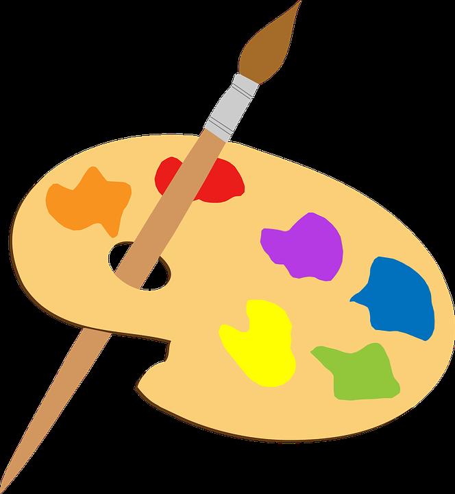 Artiste, Coloré, Pinceau, Palette - PNG Peintre Artiste