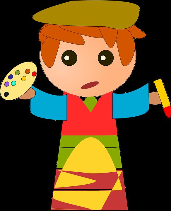 artiste peintre peinture couleurs arts garçon - PNG Peintre Artiste