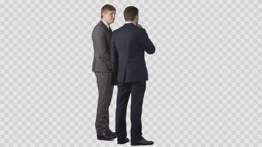 Two Businessmanu0027s In Office Clothes Are Looking At Something And  Discussing. Clip With Alpha Channel Stock Footage Video 25268882 |  Shutterstock - PNG People Working Office