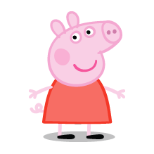 Peppa, as she appears in the TV series of the same name. - PNG Peppa Pig