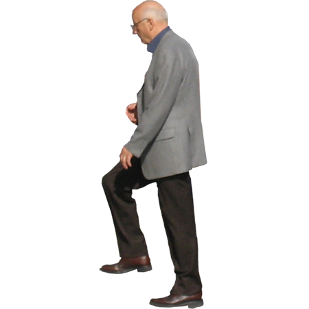 Old Man Walking Up Stairs. Parent Category : Cutouts - PNG Person Walking