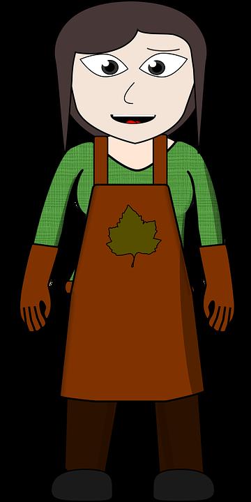Celemek, Karakter Komik, Petani, Toko Bunga - PNG Petani