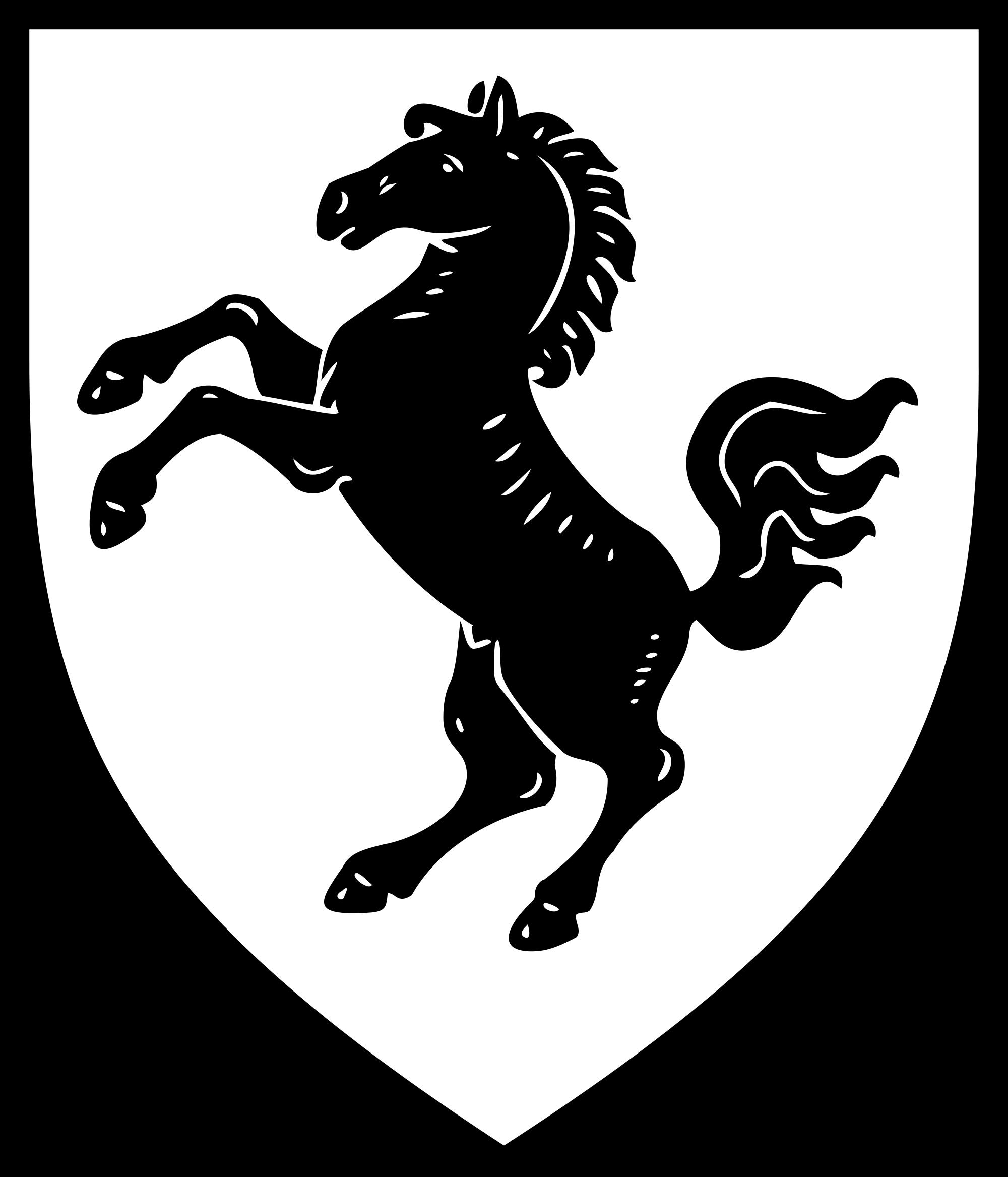 PNG Pferd Schwarz Weiss - 72190