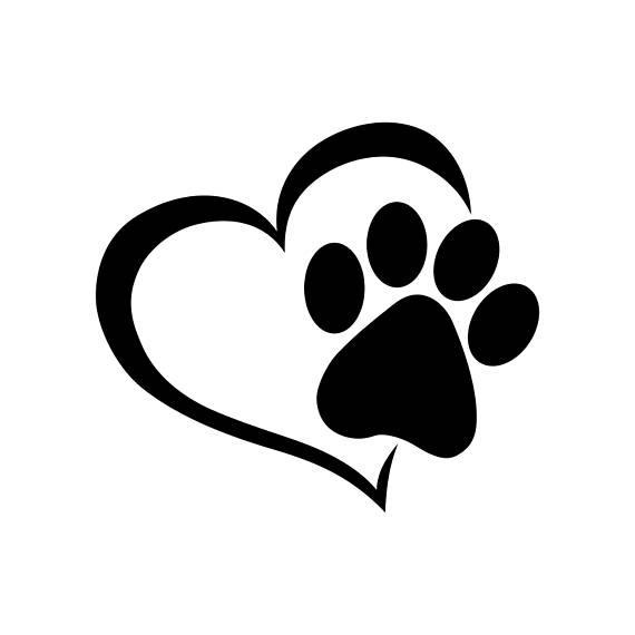 Pfote Herz Hund Katze Liebe Haustier Graphics SVG Dxf EPS Png Cdr Ai Pdf  Vector Art Clipart sofortigen Download Digital schneiden Print Datei Cricut  PlusPng.com  - PNG Pfote