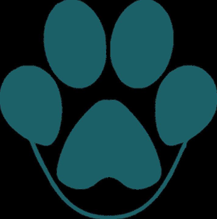 Pfote, Tier, Haustier, Hund, Tatze Druck, Blau - PNG Pfote