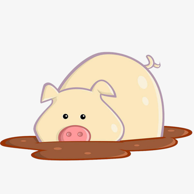 A pig, The Mud, Puddle, Sump Pit Free PNG Image - PNG Pig In Mud