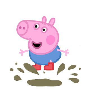 Cartoon Characters: Peppa Pig PNG pack - PNG Pig In Mud