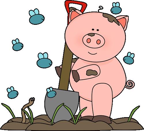 Clipart pig in mud - PNG Pig In Mud