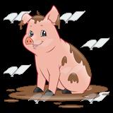 Dirty Pig PlusPng.com  - PNG Pig In Mud