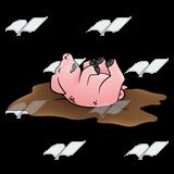 Dirty Pink Pig PlusPng.com  - PNG Pig In Mud